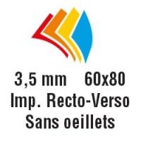 60x80 cm - R°V° - Sans oeillets