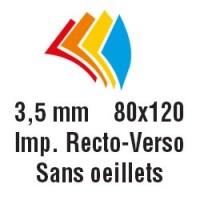 80x120 cm - Recto-Verso - Sans oeillets