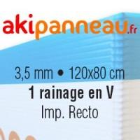 120x80 cm •1 rainage central •Recto