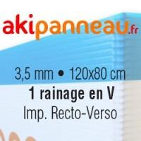 120x80 cm •1 rainage central •Recto-Verso