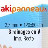 120x80 cm •3 rainages •Recto