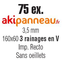 160x60 cm •3 rainages • 75...